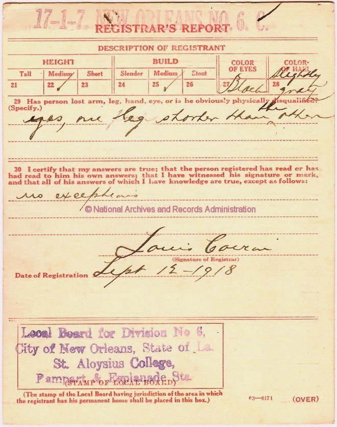 Wwi Draft Registration Cards 1