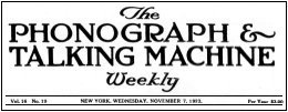 The Phonograph & Talking Machine Weekly