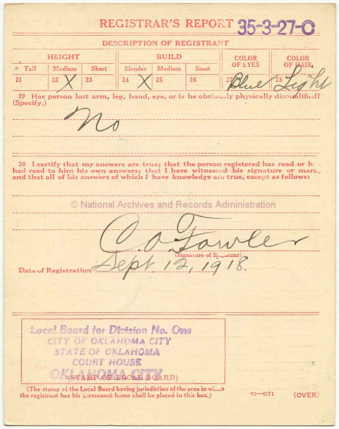 Wwi draft registration cards 4 click to enlarge back of wwi draft registration card yadclub Image collections